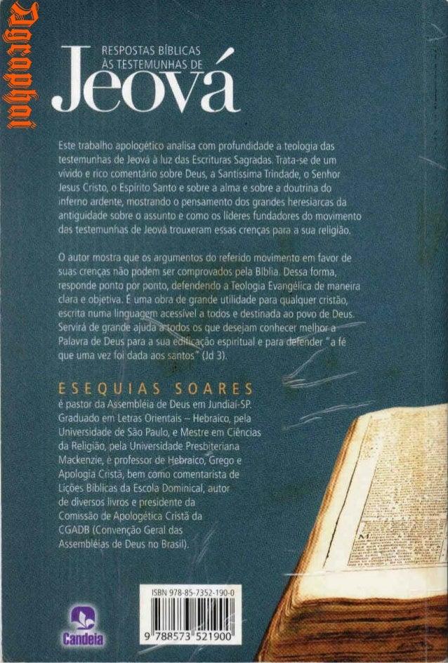 Esequias Soares Respostas Bíblicas às Testemunha De Jeová