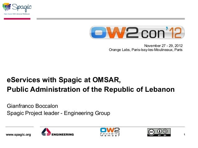 November 27 - 29, 2012                                        Orange Labs, Paris-Issy-les-Moulineaux, PariseServices with ...