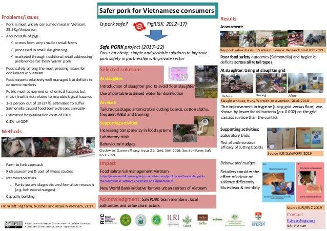 Is pork safe? (PigRISK, 2012–17) Methods • Farm to fork approach • Risk assessment & cost of illness studies • Interventio...