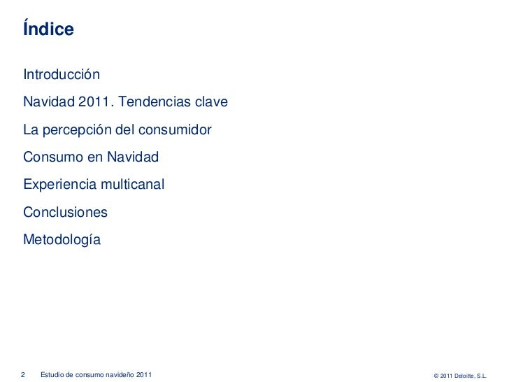 Estudio de consumo navideño (Deloitte) - NOV11 Slide 2