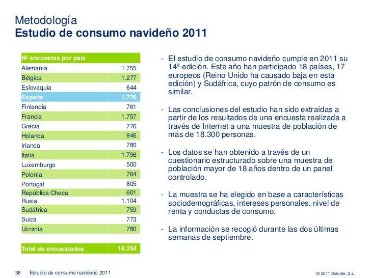 MetodologíaEstudio de consumo navideño 2011     Nº encuestas por país                          - El estudio de consumo nav...