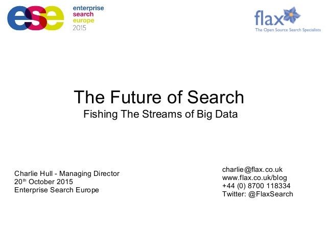 Charlie Hull - Managing Director 20th October 2015 Enterprise Search Europe charlie@flax.co.uk www.flax.co.uk/blog +44 (0)...