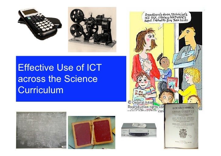 Effective Use of ICT across the Science Curriculum