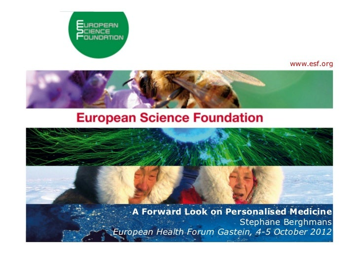 www.esf.org                          A Forward Look on Personalised Medicine                                              ...