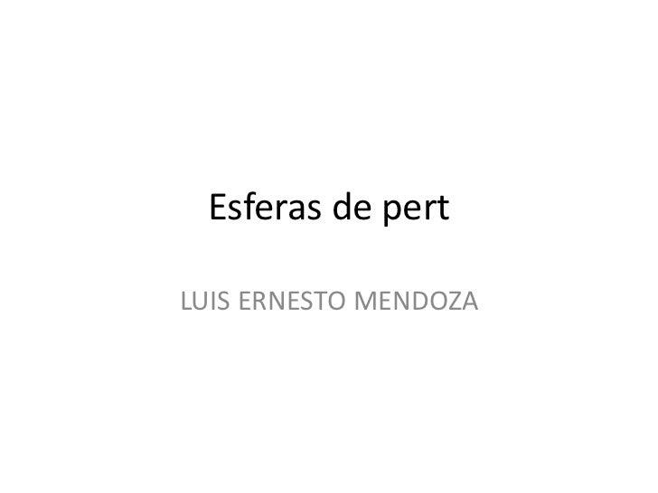 Esferas de pert<br />LUIS ERNESTO MENDOZA<br />