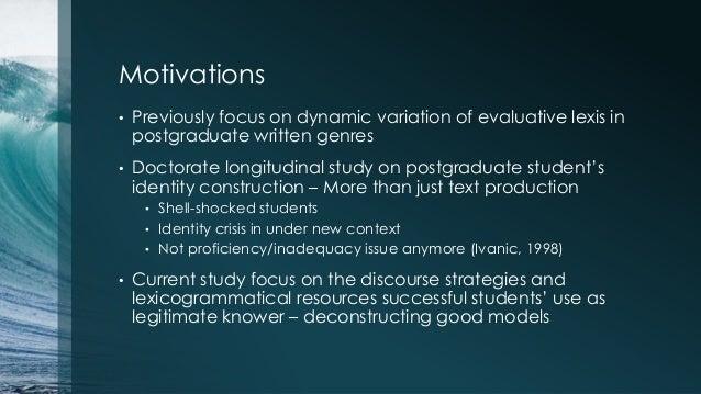 Legitimising Knowers' Multiple Voices in L2 Postgraduate Writing Slide 3