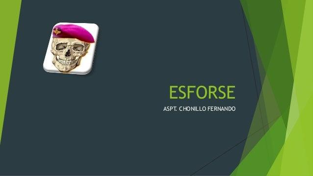 ESFORSE ASPT. CHONILLO FERNANDO
