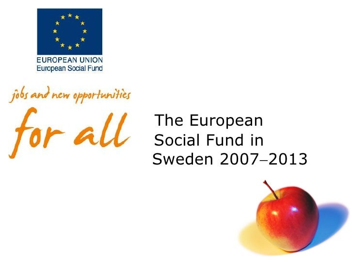 The EuropeanSocial Fund inSweden 20072013