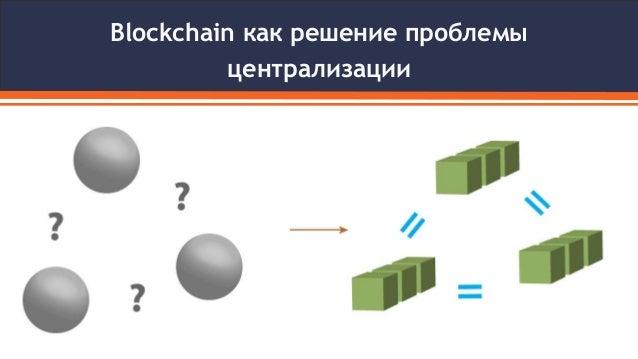Blockchain как решение проблемы централизации