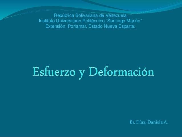"""República Bolivariana de Venezuela  Instituto Universitario Politécnico """"Santiago Mariño""""  Extensión, Porlamar. Estado Nue..."""