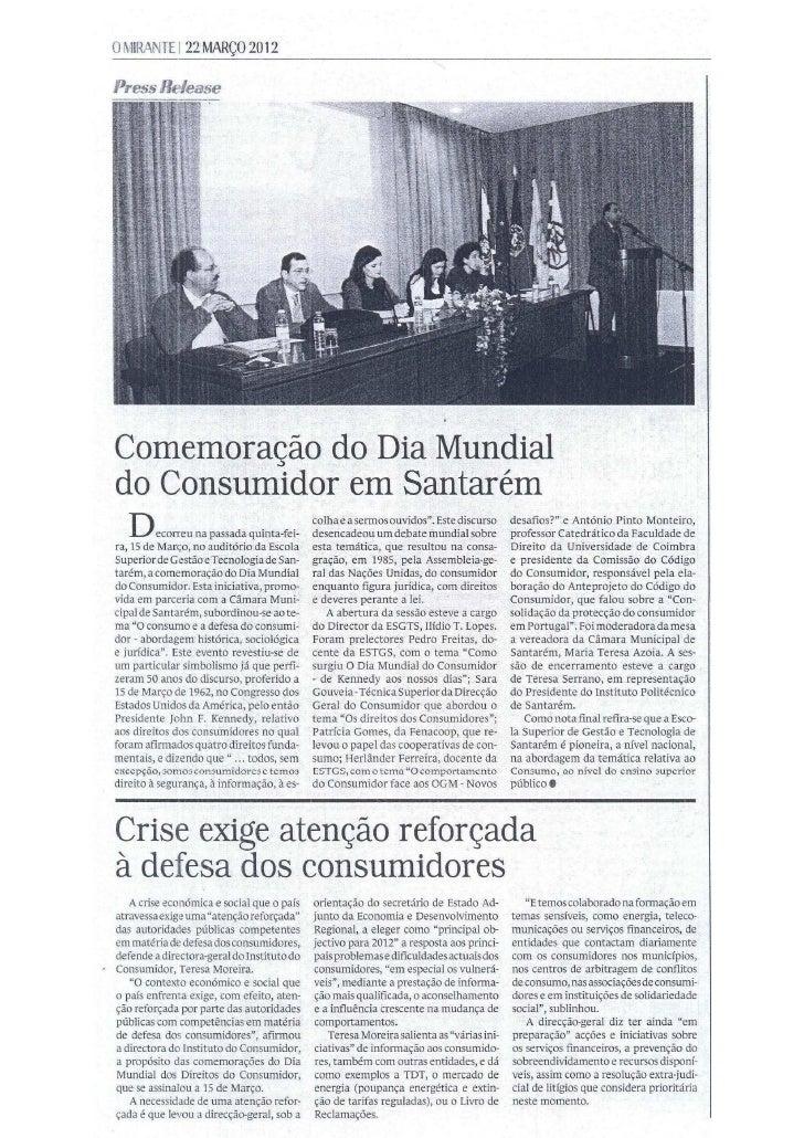 Esgts comemoração do dia do consumidor   o mirante 22-03-2012
