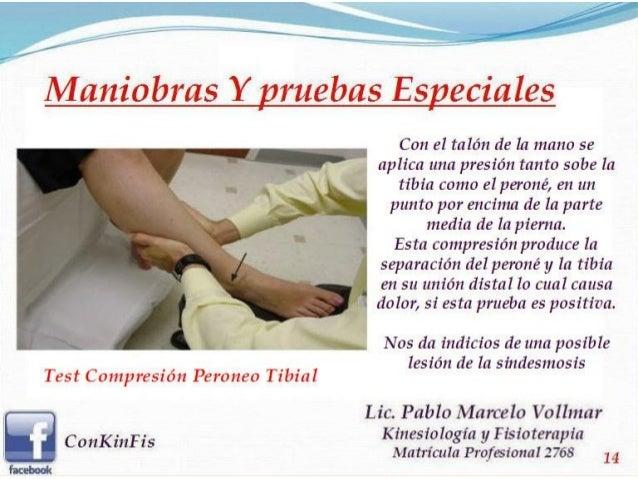 Lesiones capsuloligamentarias del tobillo for Test fisioterapia