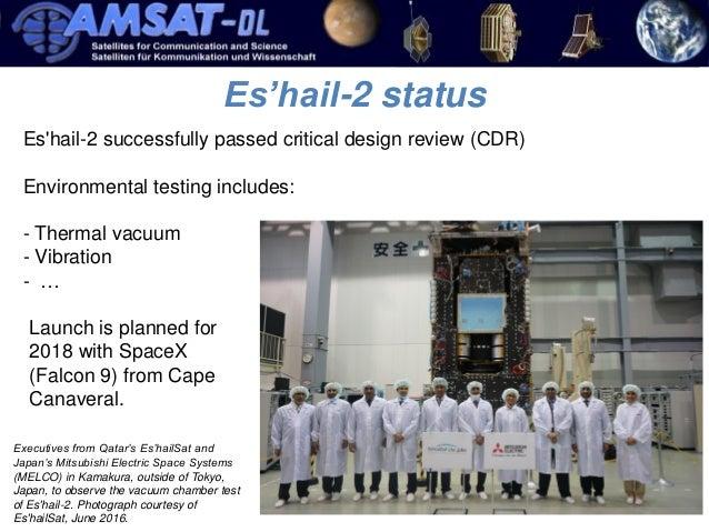 Es'hail2 1er satellite radioamateur géostationnaire QATAR