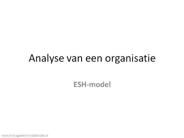 Esh model presentatie