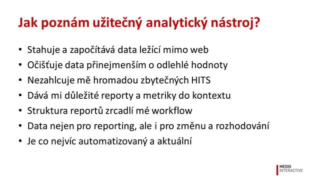 EasyReport Užitečná  a  smysluplná  analytika   pro  běžné  e-‐shopy  od  Medio  Interactive www.easyre...