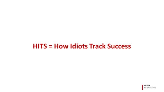 HITS  =  How  Idiots  Track  Success