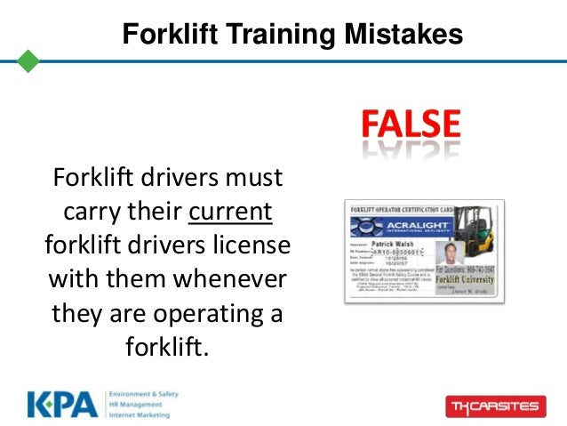Forklift training card template pictures to pin on for Forklift licence template