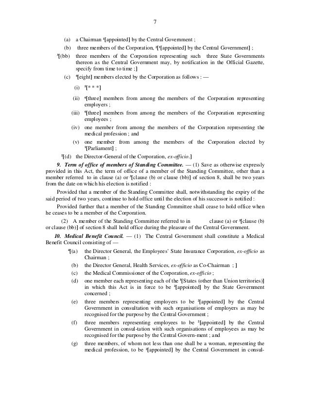 esi act Lexuniverse provides information about the employees state insurance act,  1948.