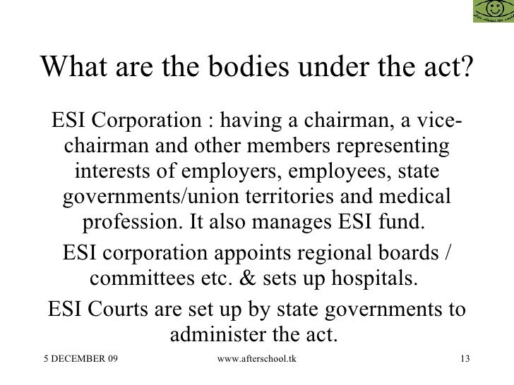 esi act 1 the employees' state insurance act, 1948 [act no 34 of 1948] 1 [19 th april, 1948 an act to provide for certain benefits to employees in case of sickness, maternity and.