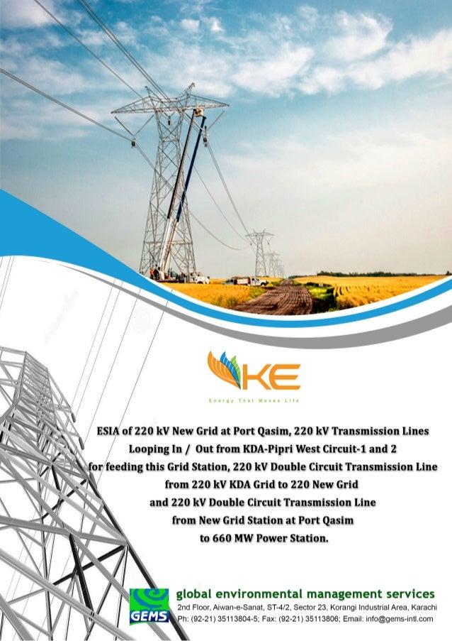 Esia of 220 k v transmission lines at port qasim