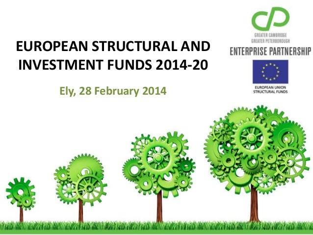 EUROPEAN STRUCTURAL AND INVESTMENT FUNDS 2014-20 Ely, 28 February 2014