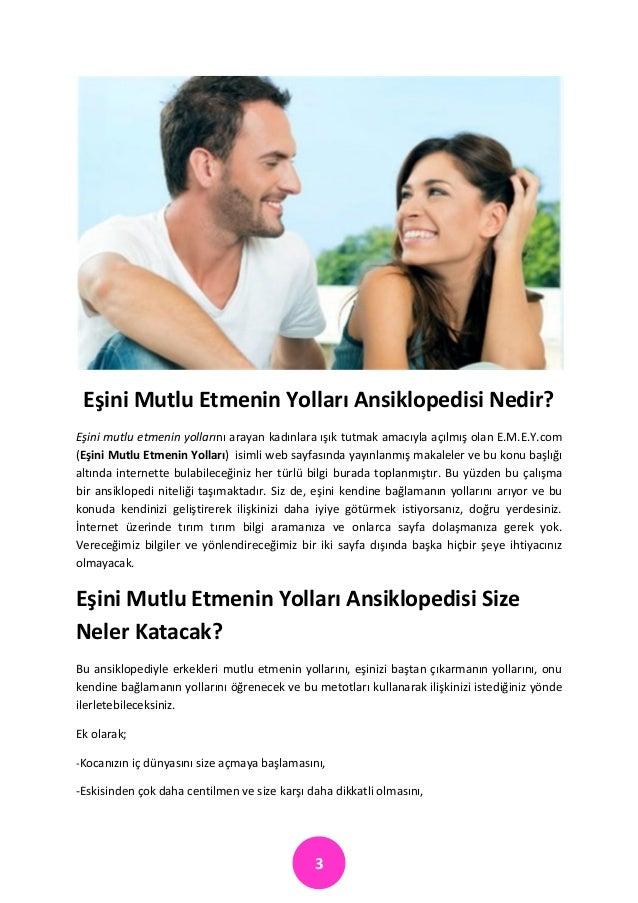 Eşini Mutlu Etmenin Yolları Ansiklopedisi  Slide 3