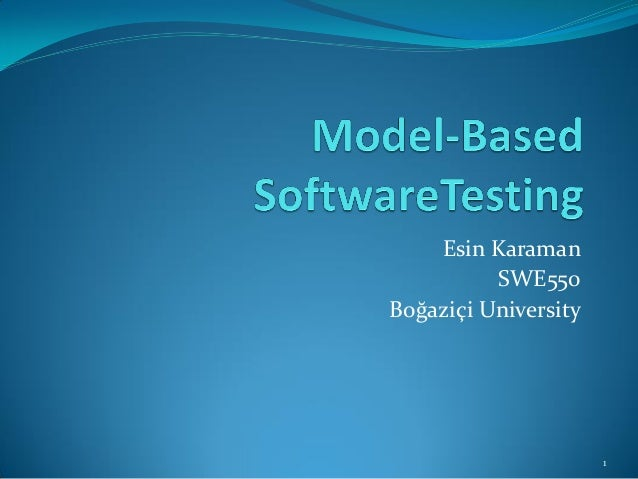 Esin Karaman  SWE550  Boğaziçi University  1