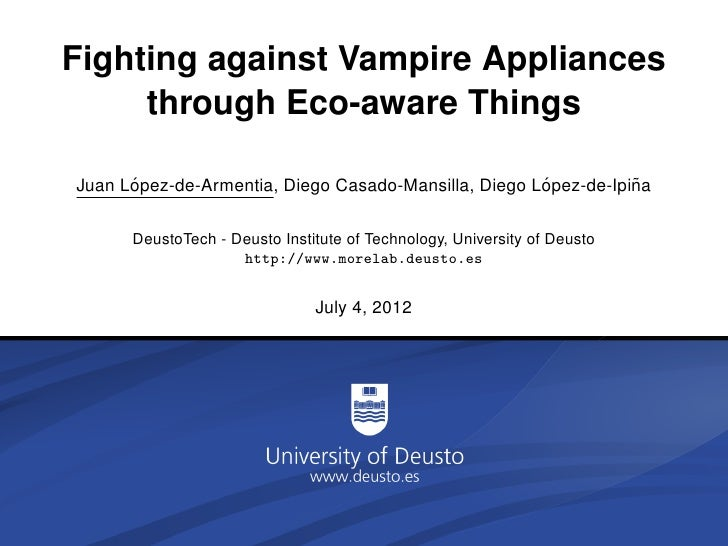 Fighting against Vampire Appliances     through Eco-aware Things      ´                                               ´   ...