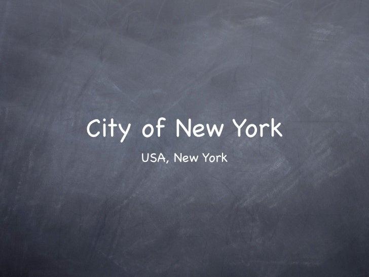City of New York    USA, New York