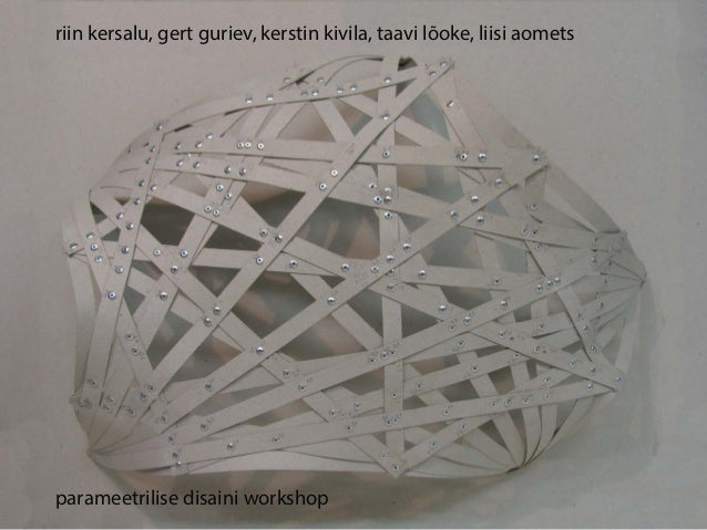 riin kersalu, gert guriev, kerstin kivila, taavi lõoke, liisi aometsparameetrilise disaini workshop