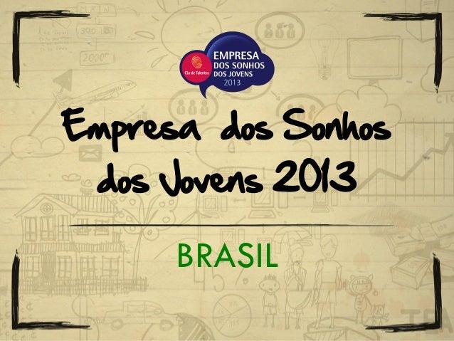 BRASIL Empresa dos Sonhos dos Jovens 2013