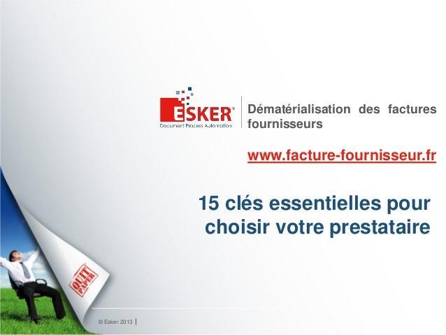 Dématérialisation des factures                    fournisseurs                    www.facture-fournisseur.fr              ...