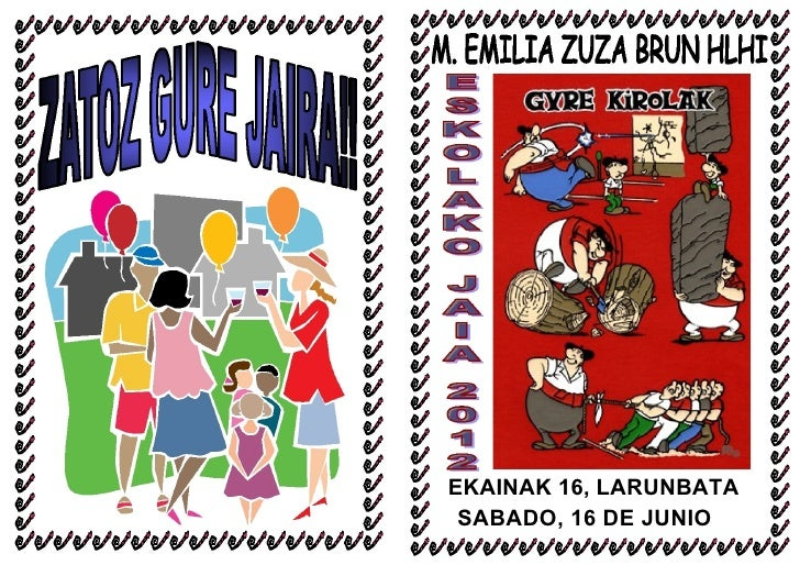EKAINAK 16, LARUNBATA SABADO, 16 DE JUNIO