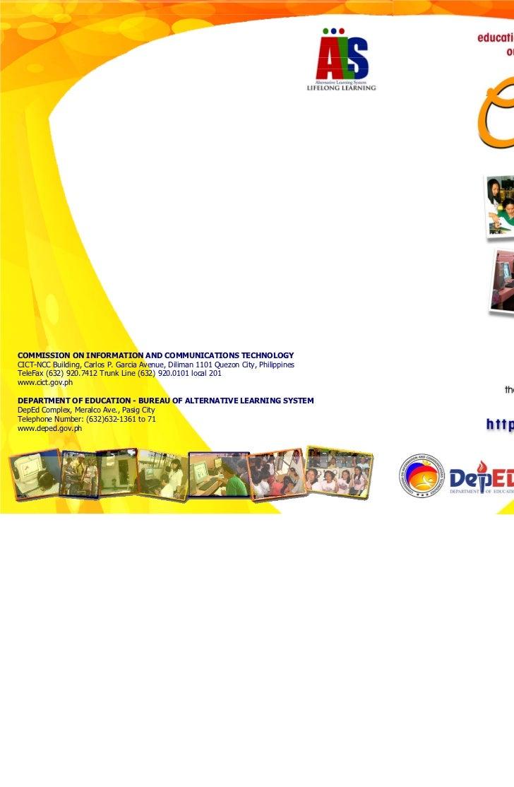 COMMISSION ON INFORMATION AND COMMUNICATIONS TECHNOLOGYCICT-NCC Building, Carlos P. Garcia Avenue, Diliman 1101 Quezon Cit...