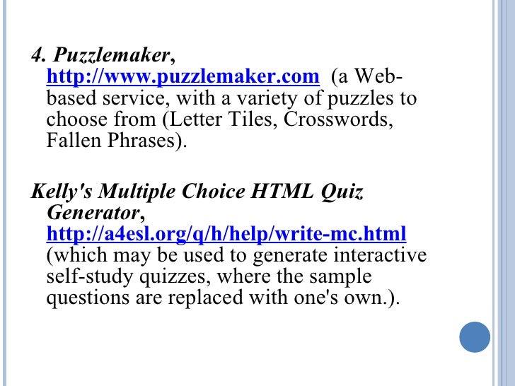 Puzzlemaker.com Free