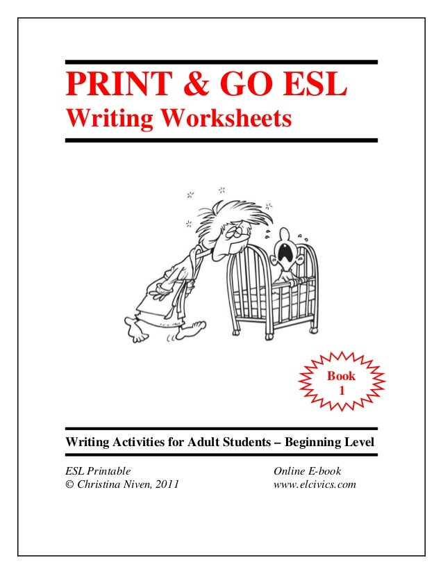 Worksheets Esl Writing Worksheets esl e book writing 1 print go worksheets activities for adult students beginning level printable