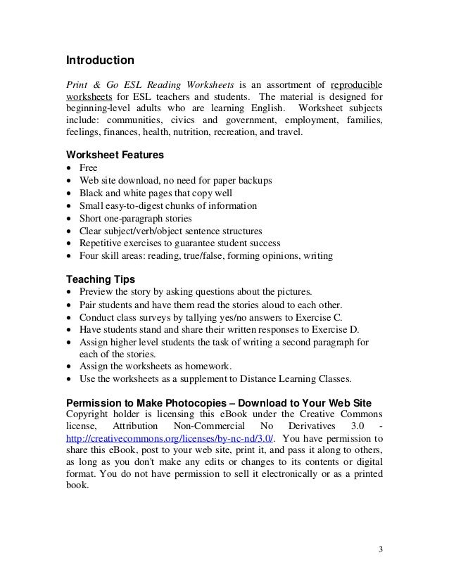 Printables Esl Civics Worksheets esl ebook worksheets for beggining level 23 3 introduction print go reading worksheets