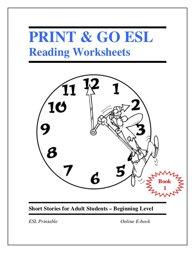 PRINT & GO ESLReading Worksheets                                                     Book                                 ...