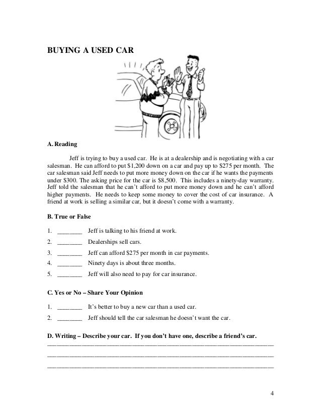Used Car Buying Checklist >> 28 Buying A Car Worksheet Home Buying Worksheet