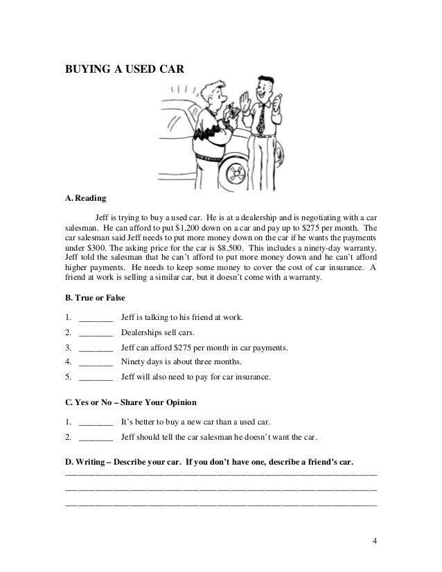 Esl English Language Reading Quiz Worksheets Book 1 Short Stories F