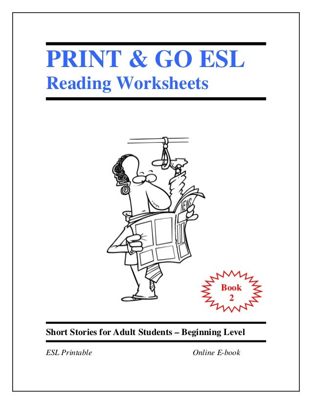Worksheets Esl For Adults Worksheets esl worksheets book 2 short stories for adult students print go eslreading worksheets