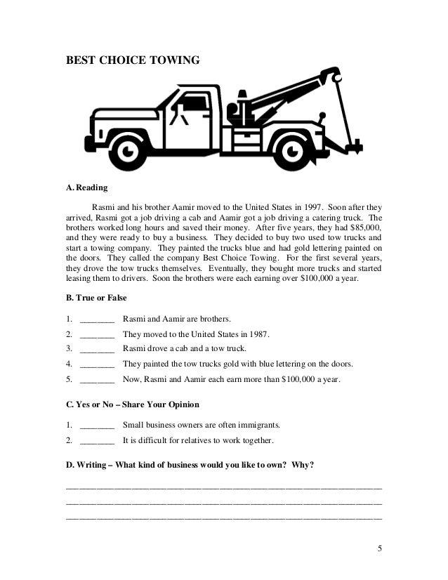 ESL worksheets Book 3 Short Stories for Adult Students – Drivers Ed Worksheets