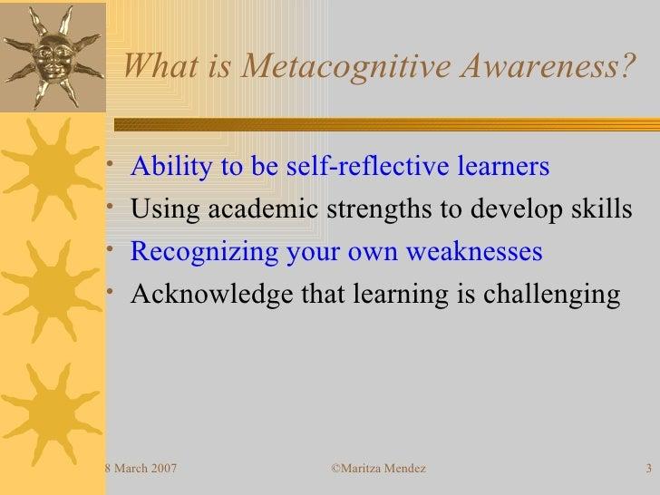 esl students awareness of metacognitive strategies used