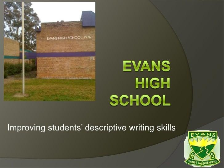 Improving students' descriptive writing skills