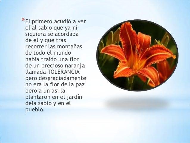 Es la flor de la paz