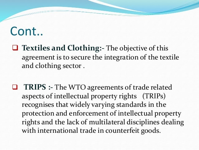 the trade related investment measures agreement trims essay Essay on india and wto issues  under the agreement on tariffs and quantitative restrictions  trade related investment measures (trims), general agreement on.