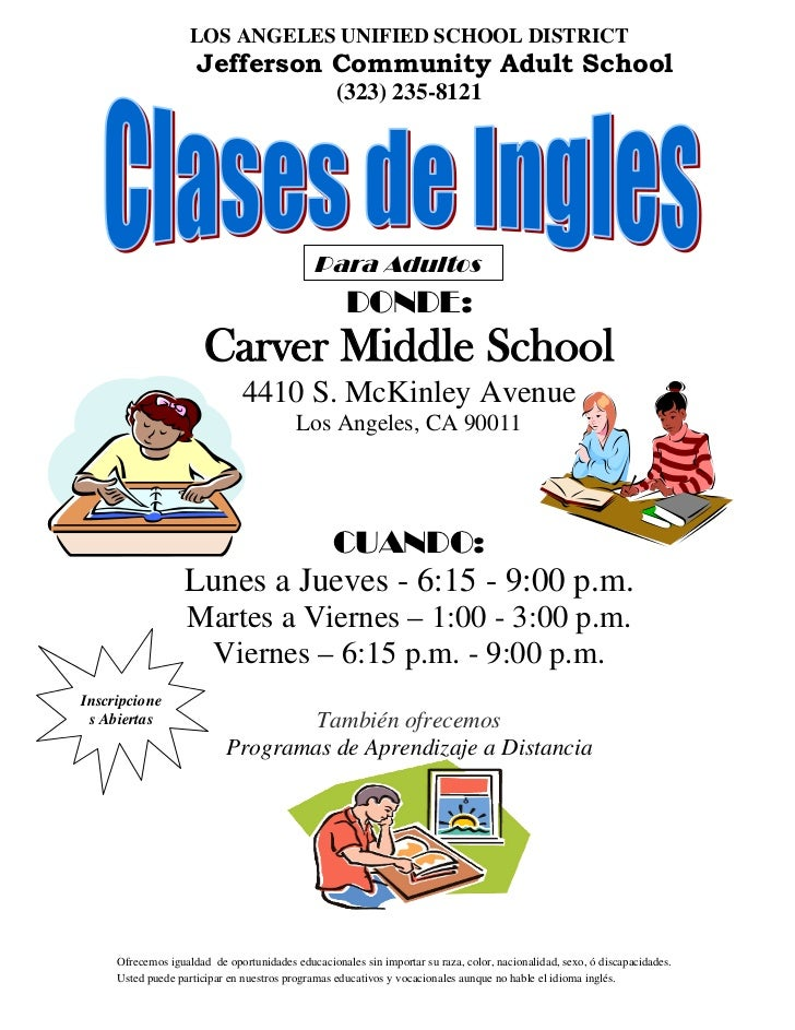 LOS ANGELES UNIFIED SCHOOL DISTRICT                     Jefferson Community Adult School                                  ...