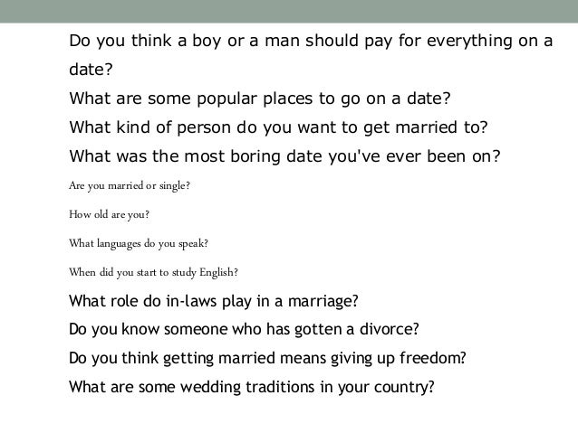 esl discussion questions dating