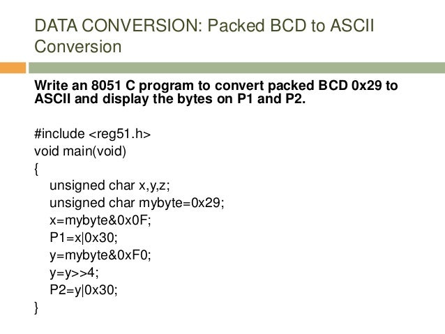 Intel 8051 Programming in C