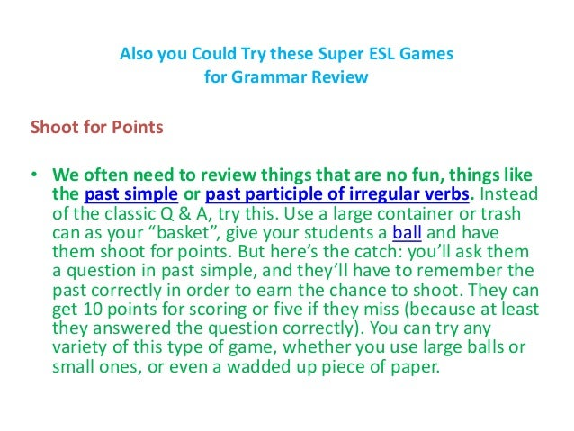 7 Golden Grammar Games for a Winning ESL Lesson Plan ...